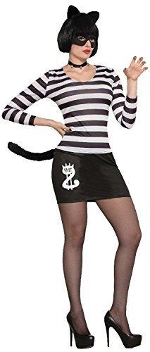 Kostüm Katze Einbrecher Für Erwachsene - Fancy Me Damen Schwarze Katze Einbrecher Halloween Tier Henne Do Abend Party Kleid Kostüm Schuhe