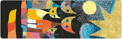 Fridolin 67406 Kunstlesezeichen Wachtmeister - Bunte Katzen