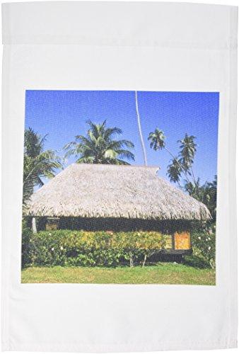 3dRose FL_84975_1 Grashütte in Tahiti/Bora Bora/Französisch-Polynesien OC13 BBA0053 Bill Bachmann Gartenflagge, 30,5 x 45,7 cm -