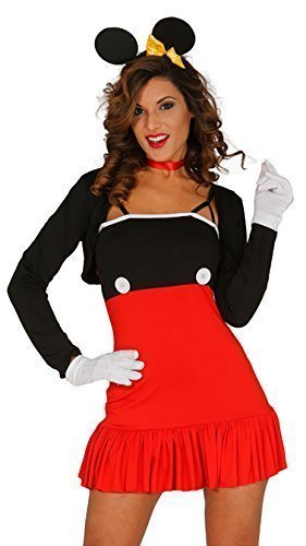 Damen Sexy Rot Minnie Mouse Halloween Büchertag Kostüm Kleid Outfit UK (Halloween Damen Minnie Mouse Kostüme)