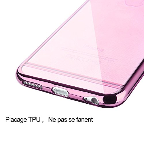 FDTCYDS iPhone 6 6S H ¨ ¹ Sistemata, sottile Soft Rubber L?schen Back Cover H ¨ ¹ lle F ¨ ¹ r iPhone 6/6S 4.7 , Gomma, gold, Gold Rose Gold