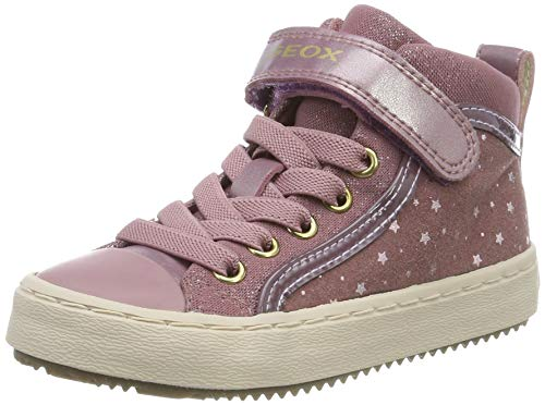 Geox Mädchen J Kalispera Girl I Hohe Sneaker, Pink (Antique Rose C8056), 34 EU