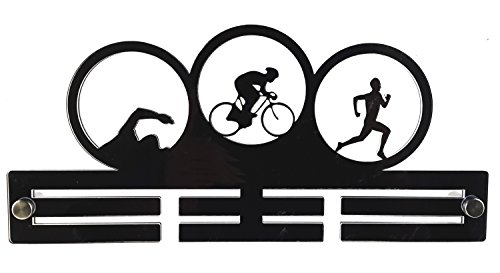 Origin Triathlon Triathlete Sport Acrylic Running Medal Holder/Hanger: 29 cm Size Display -