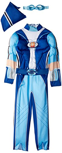 Disguise Sportacus Toddler Muscle Lazy Town Cartoon Network Costume, One Color, Large/4-6 by Disguise