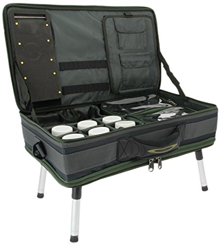 NGT Carp Bivvy Table System Koffer, grün schwarz, M