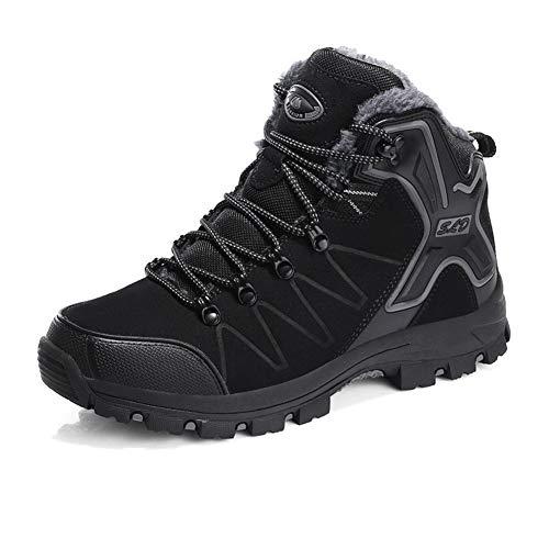 Ulogu Herren Damen Winterschuhe Warm Gefütterte Winter Boots Wasserdicht Schneestiefel Wanderstiefel rutschfeste Outdoor Schuhe