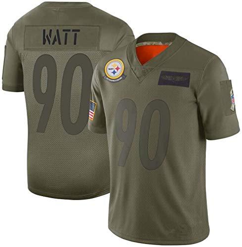 Playera de fútbol para Hombre, Color marrón, Steelers, RAMS, Verde Militar, edición Bordada, Manga...