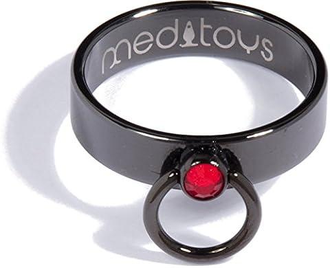 meditoys® - 'Ring der O' - PVD Black mit Original Swarovski CRYSTAL