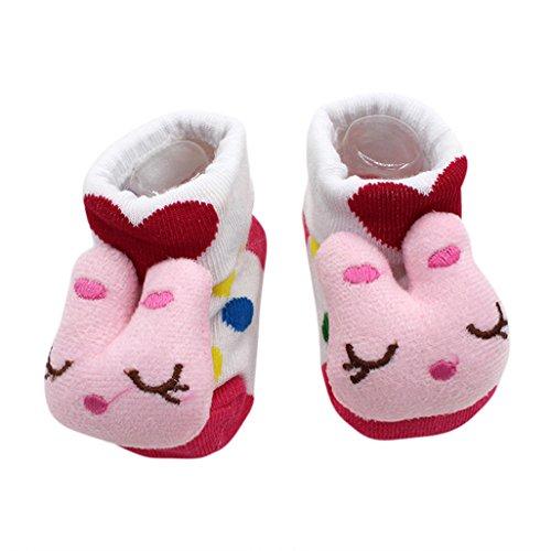 Vovotrade 15 verschiedene Karikatur Neugeborene Baby Jungen Anti Rutsch Socken Hefterzufuhr Schuh Aufladungen (O)