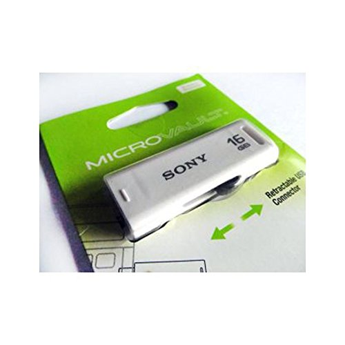 Sony Micro Vault Classic USB 2.0 16GB Pen Drive (White)