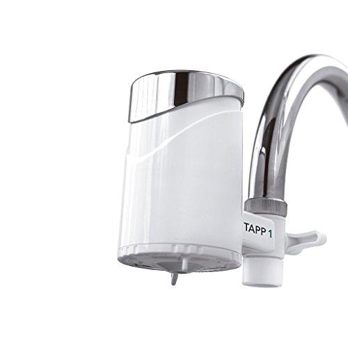 Tapp 1 - Wasserfilter Für Den Wasserhahn Von Tapp Water (Reduziert Chlorgehalt, Kalk, Schwermetalle), Weiß, Chrome, 1500 Liter