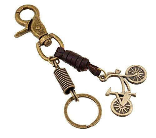 Sucolin bicicleta llavero piel metal Vintage cadena