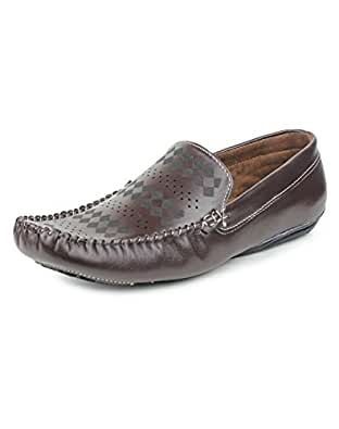 Pede Milan Loafers 6173 Synthetic Leather for Men (9 UK, Coffee)