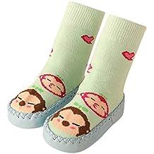 Calcetines niño Antideslizantes,LANSKIRT Calcetines bebé niño niña con Dibujos Animados Mocasines Antideslizantes para Zapatillas