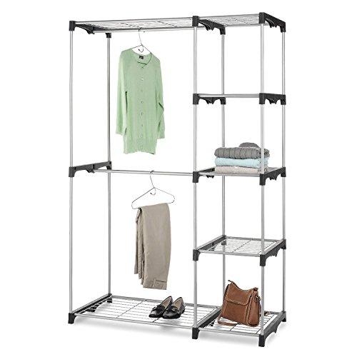 top-home-solutionsr-double-rod-freestanding-portable-clothes-wardrobe-closet-organizer-storage-rack-