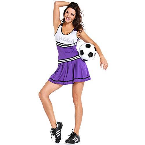 ZQ Cheerleader Kostüm Uniform Kostüm Frauen High School Musical Cheerio Klassisch Athletisch Sport Kostüm (Musical-halloween-kostüme School High)