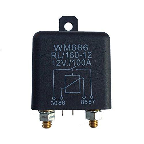 KKmoon 12VDC 100A AMP 2.4W Relais, 1 Stück 4 Stifte Auto Startup-Schalter, Schwer Hochstrom Trennrelais Kann Kontinuierliche Arbeit für Pkw Lkw Kfz - 4 Unzen-raspberry