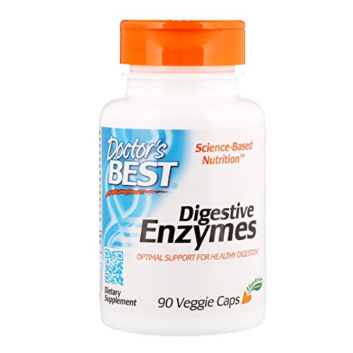 Doctor's Best Verdauungsenzyme (Digestive Enzymes), 90 vegane Kapseln, glutenfrei - Verdauungs Enzym Mischung