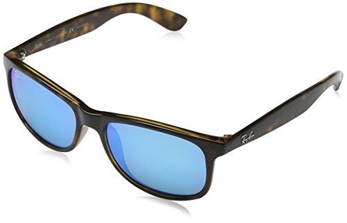 Rayban Herren Sonnenbrille Andy Mehrfarbig (Gestell: Havana,Gläser: grau polarisiert 710/9R)), Medium (Herstellergröße: 55)
