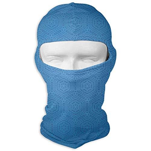 Blue Square Design Sunscreen Full Face Mask Windproof Ski Mask Motorcycle Mask Balaclava Unisex Novelty Fashion Multicolor9