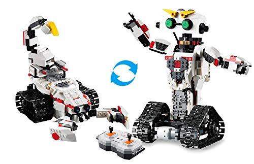 RCTecnic - Robotics Robot Teledirigido para Montar 2 en 1 | EscorpioBOT | Dispara Misiles | 710 Piezas