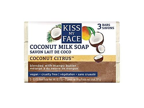 Kiss My Face Coconut Milk Bar Soap (3 Pack, 99g Bars)