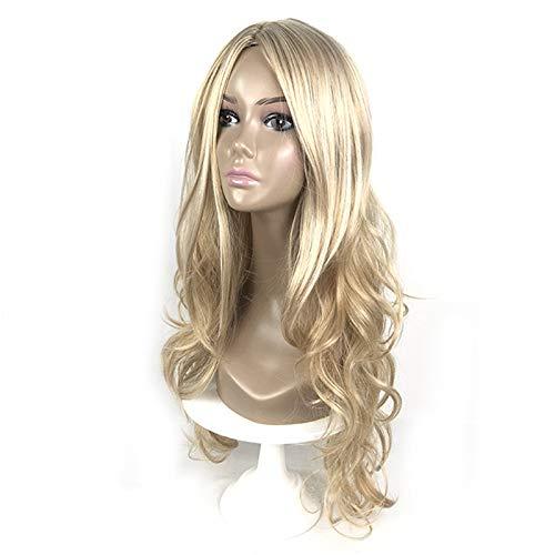 s Haar exklusiv für europäische und amerikanische Damen langes lockiges Haar Carrie t Farbe Chemiefaser COS-Modelle ()