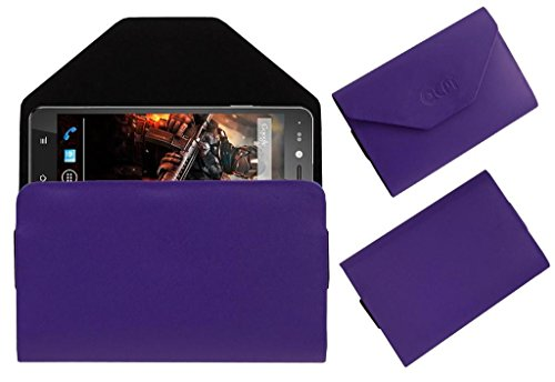 Acm Premium Pouch Case For Xolo Play 6x-1000 Flip Flap Cover Holder Purple  available at amazon for Rs.179
