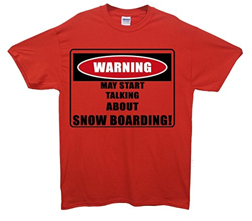 Warning/Snowboard. Maglietta Red