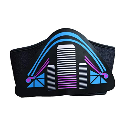 WSK LED Light up Mask Sound activated light mask -Motorcycle mask      Mask for party  Halloween Carnival Carnival Club