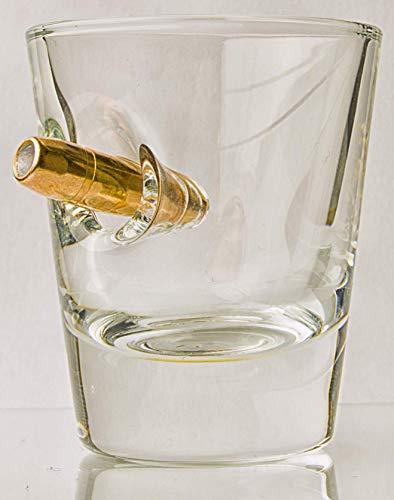 KolbergGlas ShotGlas mit realem Geschoß- Cal.308 HandMade Geschenkidee Inhalt 4,5 cl Gläser Sammlung