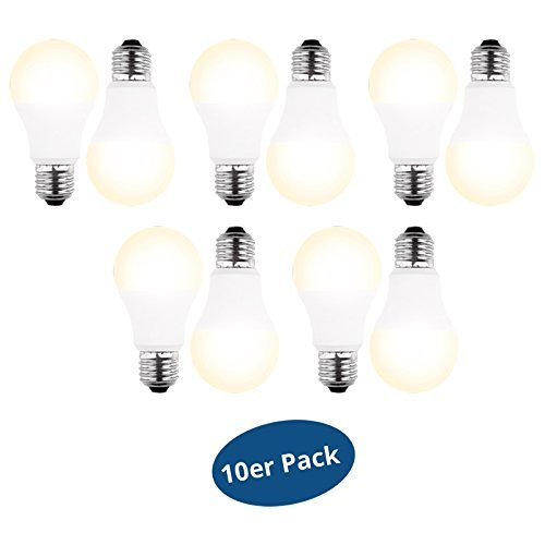 10er Pack BLULAXA LED-Lampe E27 8 Watt (ersetzt 60 Watt) 810 Lumen warm white