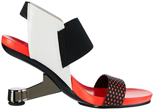 United nude Eamz Raiko, Sandales  Bout ouvert femme Mehrfarbig (coral Mix)