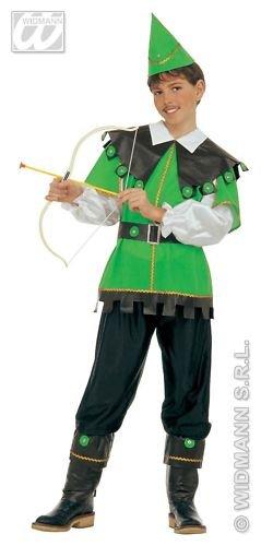 Kinder Kostüm Archer - Widman Gewohnheit von Archer Bambino 8/10 Jahre Für Verkleidungskarneval