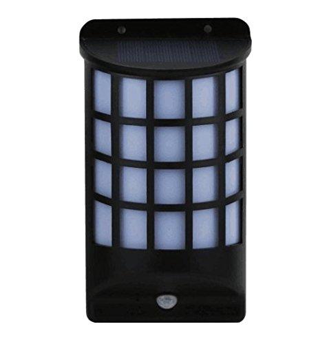 (Cibeat Solar Wandleuchte Semi Zylinder, Wireless Wasserdicht Motion Sensor LED-Außenleuchte, 2Modi Zaun Sicherheit Lampe für Terrasse, Deck, Hof, Garten)