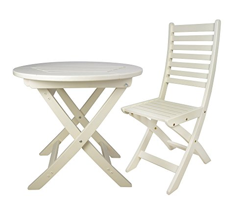 Fallen Fruits Round Folding Table And 2 Folding Chairs U2013 Cream