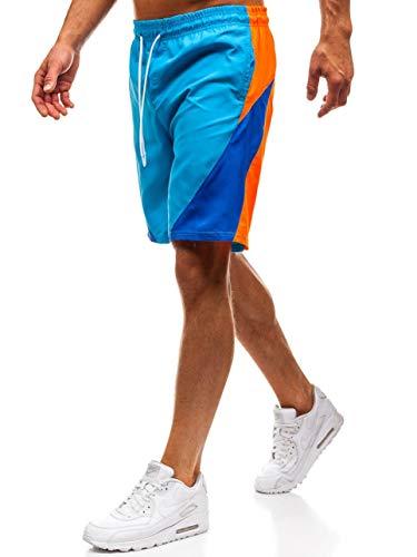 BOLF Herren Badehose Shorts Schwimmhose Sportlicher Stil MHM 250 Blau(Hell) M [7G7] | 05902646873565