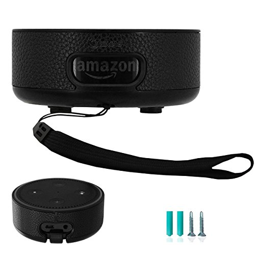 Etercycle Amazon Echo Dot Hülle (nur für Echo Dot 2. Generation geeignet), Alexa Hülle Case Cover, Stand Guard Halter / Wandhalterung für Amazon Echo Dot 2., freie 2er Schrauben und ein Handschlaufe