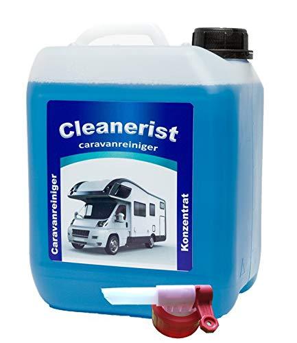 Die Seifenblase Cleanerist Caravanreiniger Konzentrat inkl. Sabeu FLUXX® Auslaufhahn - spezieller Reiniger für Caravan, Wohnwagen, Wohnmobil und Reisemobil - 5 Liter