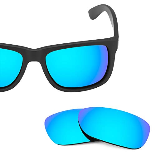 Revant Replacement Lenses for Ray-Ban Justin RB4165 54mm, Polarized, Azul Hielo MirrorShield