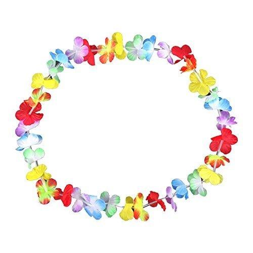 S/O® 30er Pack Blumenketten Multicolor Bunt Blumenkette Hawaiikette Hawaiiketten
