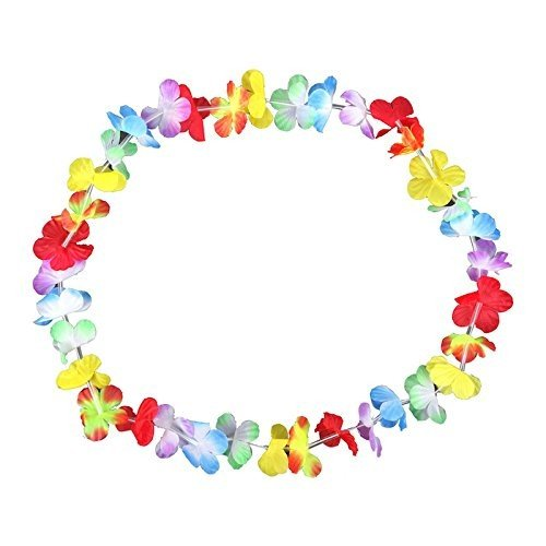 Kostüm Schmuck Hersteller - S/O® 30er Pack Blumenketten Multicolor Bunt Blumenkette Hawaiikette Hawaiiketten