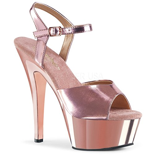 Pleaser Women KISS-209/ROGLDPU/M Sandals Ankle Strap Platform Sandal