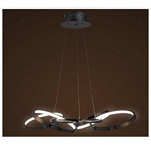BJVB LED tondo soffitto Ciondolo lampada camera da letto luce moderna alluminio. bicromato di potassio placcato anelli ciondolo a forma