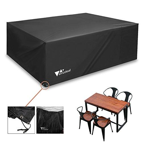 Amzdeal Gartenmöbel Schutzhülle, 200x160x70cm, Solide GrillSchutzhülle, Wasserdichte Antisolar für Möbel, Tische und Gartenstühle