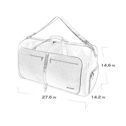 Gonex Leichter Faltbare Reise-Gepäck 60L & 80L & 100L Duffel Taschen Übernachtung Taschen/ Sporttasche für Reisen Sport Gym Urlaub Grün