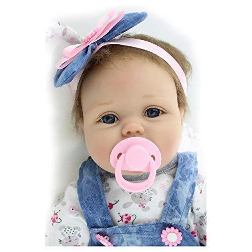 ZIYIUI 22 ' Bebé Recién Nacido Muñeca Hecha a Mano Suave del Silicón del Bebé Muñeca Recién Nacida los 55cm Reborn Baby Doll