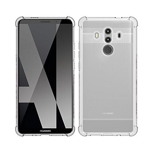 Gosento Huawei Mate 10 Pro Hülle, Soft Flex Shockproof Silikon Case Kohlenstoff Faser Entwurf Schutzhülle Cover für Huawei Mate10 Pro (Transparent) EINWEG