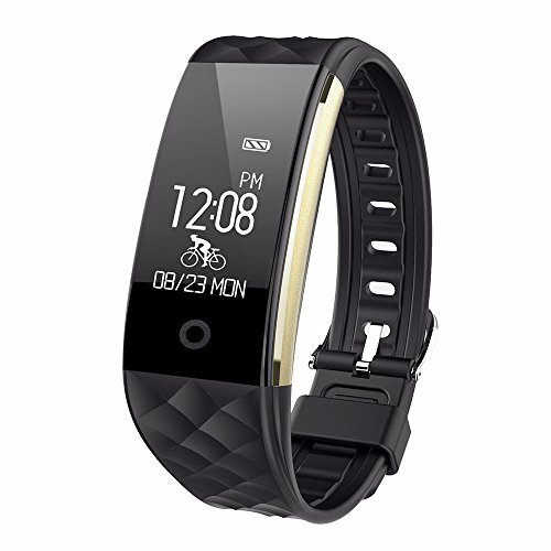 HR Fitness Tracker,Juboury Fitness Armband mit Touchscreen Aktivitäts-Tracker,Herzfrequenz,Schrittzähler,Schlaf Monitor,Treppen Zähler, Kalorien Tracker.Bluetooth Smart Wristand Wearable für Android und IOS Smartphones - Zähler-monitor Kalorien