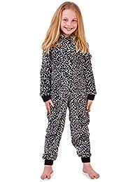 Joven Chica Dulce Pug Perro Polar 3D Orejas con Capucha All-in-One Pijama